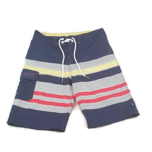 687a01277f Sperry Swim | Striped Board Shorts Size 30 Boardshorts | Poshmark
